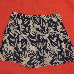 Aéropostale Navy and White Skirt